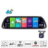 SZKJ D30 25,4 cm (10 Zoll) Full Screen 4G Touch IPS Universal Bundle Auto Armaturenbrett Cam Rückspiegel Rückspiegel mit GPS Navi Bluetooth Musik WiFi Android 8.1 Dual Lens FHD 1080P