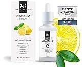 NATURELANCE Vitamin C Serum'Vergleichssieger' Bio, Vegan, hochdosiert mit Hyaluronsäure Anti-Aging, Aloe Vera, Vitamin E, Retinol, Anti Falten Feuchtigkeitspflege Gesicht & Haut