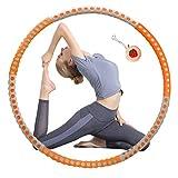 Meet Beauty Fitness Hula Hoop Reifen Erwachsene,Massage-Design,Edelstahlkern,hochwertiger Schaumstoff,gewichtsverstellbar von 1 kg bis 3 kg,abnehmbar mit 6 Segmenten,Fitnessformung
