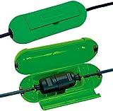 Brennenstuhl Safe-Box / Schutzbox für Verlängerungskabel (Schutzkapsel für Kabel, für die Verwendung im Innenbereich) grün