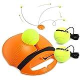 Buluri Tennis Trainer Set Tennisball für Einzel-Tennis Training Übungsbälle Baseboard Rebound Trainingsgerät für Damen und Herren Kinder, Anfänger (Orange)
