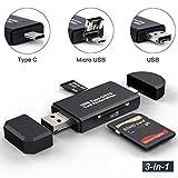 YoSuDa Speicherkartenleser Micro SD Card Reader,USB Type C OTG Adapter für Samsung S9/S9 Plus/S8/S8 Plus, MacBook Pro, MacBook 2017/2016, iMac 2017,Nicht kompatibel mit iPhone oder iPad