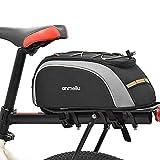 Lixada Fahrradtaschen Gepäckträger Fahrradkoffer 7L Wasserfeste Fahrradtasche mit Wasserdichter Regenhülle