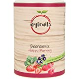 myfruits® Beerenmix - Happy Morning - Mischung aus gefriergetrockneten Früchten - Ohne Zuckerzusatz - Erdbeerscheiben, Himbeeren, schwarze Johannisbeeren (100g)