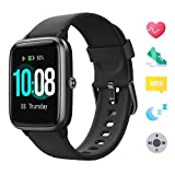 【Neueste】 GRDE Smartwatch Bluetooth V5.0 Fitness Armbanduhr Touchscreen Fitness Tracker 5 ATM Wasserdicht Smart Watch Sportuhr mit Schrittzähler Herzfrequenz/Schlaf Monitor Stoppuhr für IOS Android