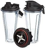 Vitamix Ascent Series – 600 ml Mix & Go Behälter-Set, Kunststoff, 600 milliliters
