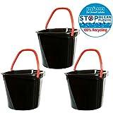 2friends 3 Eimer Putzeimer Haushaltseimer ECO, 3 Stück, aus 100% Recycling-Kunststoff, super stabil, 10 Liter, hergestellt in der EU