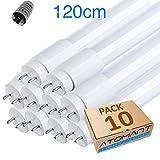 LED ATOMANT Röhre T8 LED 18 W 360 Grad 1800 Lumen 120 cm Packung mit 10 Stück. Kaltweiß (6500K) Inklusive LED-Beleuchtung.