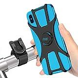 SYOSIN Fahrrad Handyhalterung, Universal Abnehmbare Motorrad Handyhalterung Fahrrad Anti-Shake Fahrradhalterung Mit 360 Drehen für 4-6,5 Zoll Smartphone