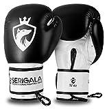 Serigala Boxhandschuhe mit hohem Tragekomfort - Kickboxhandschuhe für Kampfsport, MMA, Thaiboxen, Muay Thai, Boxsack Training und Sparring - Inklusive Tasche und Trageschlaufe 12 oz