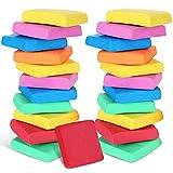 24 Stücke Knetgummi Radiergummis Mehrfarbige Geknetet Radiergummis Wiederverwendbare Formbar Kneten Radiergummis zum Kunst Zeichnung Skizzierung Lieferung