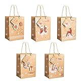 [10 Stück] Geschenktüten Papiertüten Geschenkbeutel Set Mitgebsel Tüten Geschenktütenset für Partys, Hochzeiten, Feiern, Weihnachten