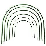 F.O.T Gewächshaus-Hoops, 6Pcs rostfrei Wachsen Tunnel Stahl mit Kunststoff Beschichtet Unterstützung Hoops Rahmen für Garten Stoff, Pflanze Unterstützung Garten Stakes (19.7' x 18.9')