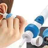 Ohrenreiniger,Elektrischer Ohrenreiniger, Automatischer Ohrwachsentferner Mit 2 Soft Silicone Kopfs, Ohrwachs Entfernungs Tool Kit Geeignet für Kinder und Familie