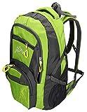 BETZ Rucksack Wanderrucksack Damen Herren Reise und Camping Freizeitrucksack 4 Taschen Volumen 37 Liter München Farbe grün