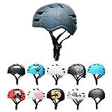 Skullcap® BMX Helm - Skaterhelm - Fahrradhelm - Herren - Damen - Jungs & Kinderhelm, Grau-schwarz, Gr. M (55 – 58 cm), Design: Crack