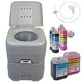 BB Sport WC tragbare Campingtoilette 20l Optional: Sanitärflüssigkeiten und Reinigungszubehör
