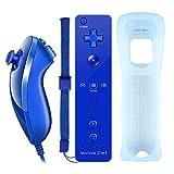 YiYunTE Motion Plus Remote Controller für Wii, 2 in 1 Wireless Bewegung Plus Fernbedienung und Nunchuck Controller für Wii und Wii U mit Silikonhülle