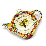 Royal Tara Walisischer Irisch Daffodil Narzisse Teebeutelhalter aus New Bone China | Welsh Teebeutelablage aus Keramik | Tellerchen für Teebeutel