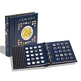 Leuchtturm 341017 Vista Münzalbum für 80 Einzelne 2 Euro Münzen | Inklusive 4 Vista Münzblätter für 80 Sammler-Münzen und Schutzkassette | blau