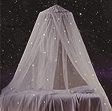 Betthimmel mit fluoreszierenden Sternen, leuchtet im Dunkeln, tolles Geschenk für Baby, Kinder, Jungen, Mädchen, Tochter. Galaxy Betthimmel für Babybett, Kinderbett