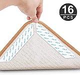 Jooheli Teppichgreifer Antirutschmatte, 16 Stück Antirutschmatte für Teppich, Rug Grippers Rutschfester Teppichunterlage, Washable Wiederverwendbar Teppich Aufkleber Starke Klebrigkeit