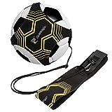 Global Park Fußball/Volleyball/Rugby Kick Throw Trainer Solo Praxis Training Aid Control Fähigkeiten Verstellbar (schwarz)