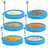 FTUNG Ei Ring 6 Pack Spiegeleiform für Bratpfanne Ei Ringe Silikon Pfannkuchenform Rund Omelett Form Für Eier Kochen 10 * 10 * 2cm (4PCS)