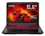 Acer Nitro 5 (AN515-54-55UY) 39,6 cm (15,6 Zoll Full-HD IPS 120 Hz matt) Gaming Laptop (Intel Core i5-9300H, 8 GB RAM, 512 GB PCIe SSD, NVIDIA GeForce RTX 2060, Win 10 Home) schwarz/rot