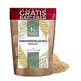 Mariendistelsamen gemahlen 900g   Premium Mariendistel Samen naturbelassen Krautberger Superfood ohne Zusätze inkl. gratis Ratgeber Mariendistelpulver