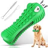 Ausbond Hundespielzeug, Hunde Spielzeug Kauspielzeug Kaustab Mit 2 Reinigungsbürste, Hundezahnbürste Für Zahnpflege, Zahnreinigung, Für 8-25 Kg Hunde (Grün)
