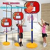 Smony Basketball-Board, Basketball-Ständer, Basketball-Rückwand, für Kinder, 78-108 cm Höhe, für drinnen und draußen, Geschenk Gr. One size, a