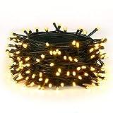 20M Weiß Warm 200 LEDs 8 Modi-Lichterketten für Weihnachtsbaum, Garten, Party und Weihnachtsschmuck