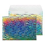 Creative Shine 43EF394 Briefumschlag Metallisch Mit Holo Effekt Haftklebung Wasserkaskade C5 162 x 229 mm 140g/m²   10 Stück