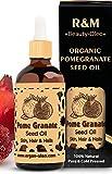 R&M Granatapfelkernöl Bio – Premium Granatapfelöl kaltgepresst für Gesicht und vieles mehr – Bekämpft Akne und Haarausfall und verbessert das Hautbild - 100ml Flasche