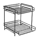 Liuhoulin Kosmetische Aufbewahrungsbox Desktop-Aufbewahrungsregal Metall Multifunktionale Kosmetik-Aufbewahrungsregal Abfüllregal mit großer Kapazität Ablagerungen für den Haushalt Ablagegestell