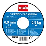 Telwin S.p.A. 802977 Füllschweissdrahtspule Durchmesser, 0.9mm, 0,8Kg , Grau