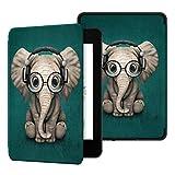 Ayotu Hülle für Kindle Paperwhite 2018 - Die leichteste Schutzhülle mit Auto Sleep/Wake Funktion PU-Leder-Schutzhülle für Amazonas Kindle Paperwhite(10. Generation–2018),Der Elefant