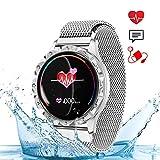 wetwgvsa Smartwatch Damen Fitness Armband Wasserdicht IP67 Fitness Tracker Aktivitätstracker Pulsuhren mit Kalorienzähler Schlafmonitor Anruf SMS SNS Benachrichtigung für IOS Android