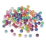 100pcs Bunte Harzkorne Eingelegt Harz Perlen Spacer Beads Perle Bastelperlen Dekoperlen Blumen Perlen zum Basteln Auffädeln