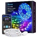 Govee WiFi LED Strip 10m, Smart RGB LED Streifen, App-steuerung, Farbwechsel, Musik Sync, funktioniert mit Alexa und Google Assistant, 2 Rollen von 5m