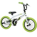 deTOX 16 Zoll BMX Freestyle Kinder BMX Anfänger ab 115 cm 5J, Farbe:Weiss/grün