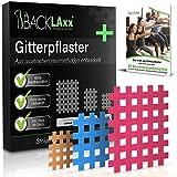 BACKLAxx® Gittertape - 119 Stück Premium-Qualität Gitterpflaster Set in 3 Größen Typ a b c - GRATIS umfangreiches eBook mit 60 Anwendungsbeispielen
