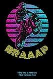 Braaap Motocross Notebook: Vintage Motocross Dirt Bike Sunset 120 - 6 X 9 Lined Paper Off Road Journal Notebook