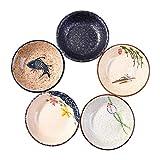 Beilagenschüssel-Set, japanische Retro-Porzellan, Beilagenschüssel, Gewürzschalen, Soja-Dip-Saucenschalen