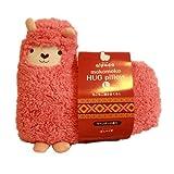 ZD71 Aunt Merry Mokomoko Lama Kissen-Puppe aus Alpaka zum Umarmen Mehrfarbig rose