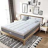 BedStory Matratzenauflage 160 x 200 cm, Weiches und Warmes Unterbett mit Eckgummis, Microfaser-Matratzenschoner für Boxspringbetten und Wasserbetten