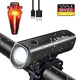 LED Fahrradlicht Set, LIFEBEE StVZO Zugelassen USB Fahrradbeleuchtung Wiederaufladbare Fahrradlampe Wasserdicht Fahrradlichter Fahrrad Vorne Licht Frontlicht Lampe Rücklicht