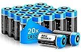 AHJ CR123A 3V Lithium Batterie, 20er Pack CR17345 CR123 Batterien Hochleistungs für Rauchmelder, Alarmanlagen, Taschenlampen, und vieles mehr, Nicht für Arlo - Einwegbatterie