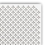 Holzplatte'PARIS' 122 x 61 cm für Heizkörperverkleidung